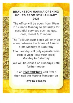 Opening Hours 6.1.21
