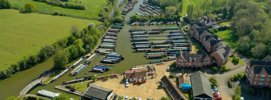 Aerial View Braunston Marina 1