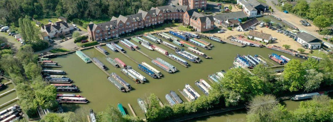 Aerial View Braunston Marina 3