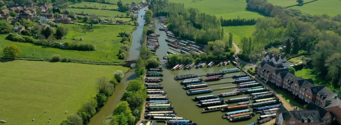 Aerial View Braunston Marina 4
